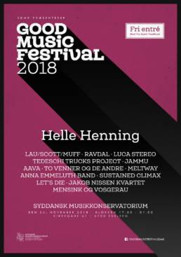 Plakat for Good Music Festival 2018