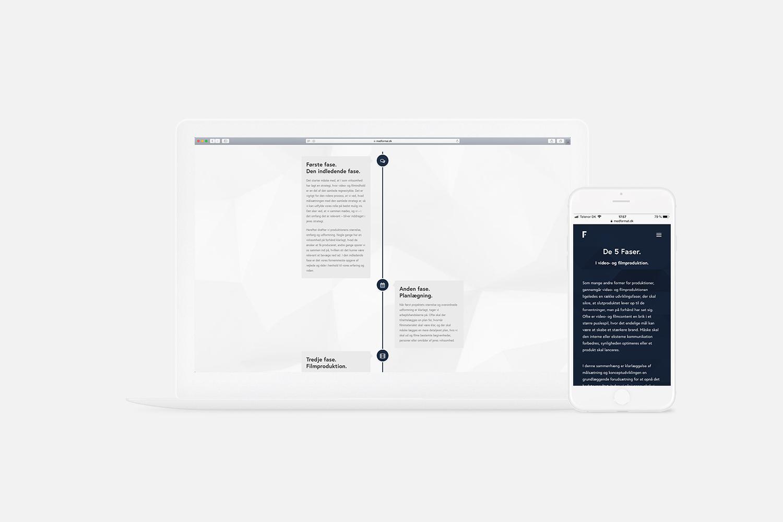 Mock-up af hjemmeside for Med Format
