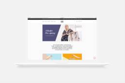Mock-up af webshop for Moxi & Frandsen