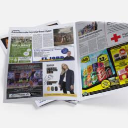Mock-up af avisannonce for Moxi & Frandsen