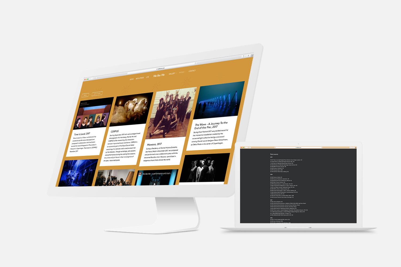 Mock-up af hjemmeside for We like We