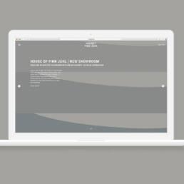 Mock-up af hjemmeside