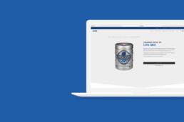 Mock-up af hjemmeside for Esbjerg Øl & Vand
